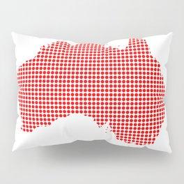 Red Dot Map of Australia Pillow Sham