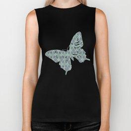 Butterfly Semi-Plaid Biker Tank