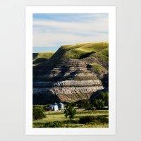 Farm House in the Badlands  Art Print