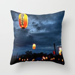 Obon lights Throw Pillow