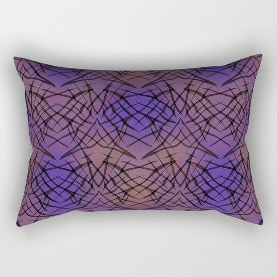 Abstract purple black pattern . Rectangular Pillow