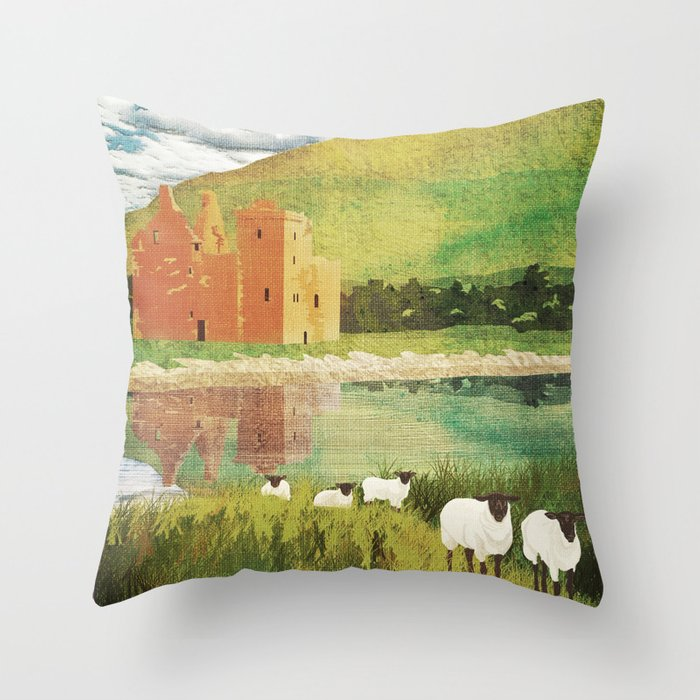 Scotland, Isle of Arran Throw Pillow