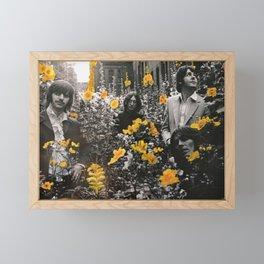 Flowerbed Framed Mini Art Print