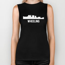 Wheeling West Virginia Skyline Cityscape Biker Tank