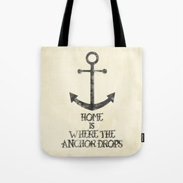Where The Anchor Drops Tote Bag