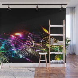 Music Notes in Color Wall Mural