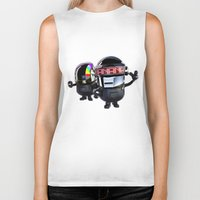 minions Biker Tanks featuring Daft Minion by Harry Martin