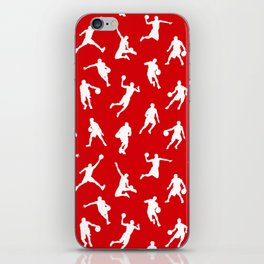 Basketball Players // Red iPhone Skin