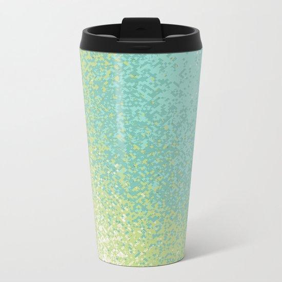 Abstract Green Blend Metal Travel Mug