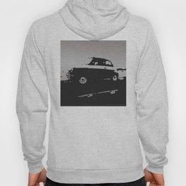Fiat 500 classic, Gray on Black Hoody
