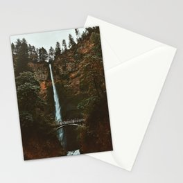 Autumn At Multnomah Falls Stationery Cards