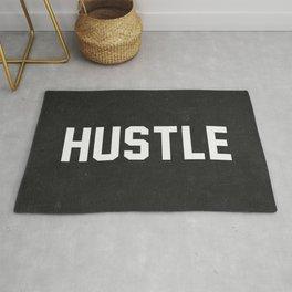 Hustle - black version Rug