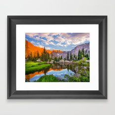 Mystic Island Lake Framed Art Print