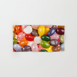 Cool colorful sweet Easter Jelly Beans Candy Hand & Bath Towel