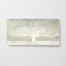 Alessio Aprile - White Tree Metal Print