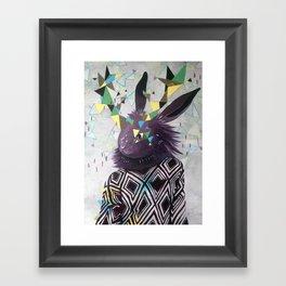Dark Rabbit Framed Art Print