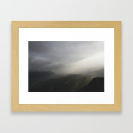 Storms Over the Gorge Framed Art Print