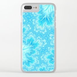 Abstract Christmas Aqua Blue Branches. Cute nature pattern Clear iPhone Case