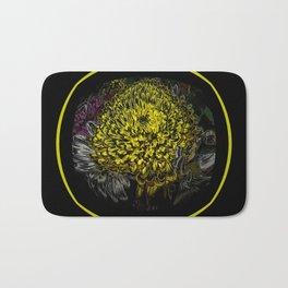 Black Yellow Pink Design Bath Mat