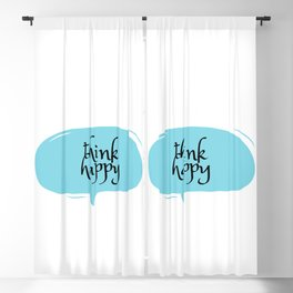 THINK HAPPY Blackout Curtain
