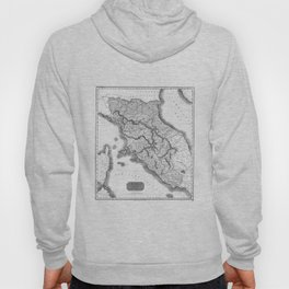 Vintage Map of Tuscany Italy (1814) BW Hoody