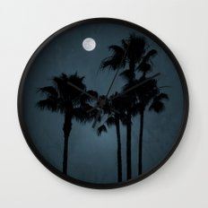 Coastal Moon Wall Clock