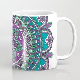 Purple and Green Mandala Art Coffee Mug