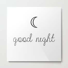 Good Night Metal Print