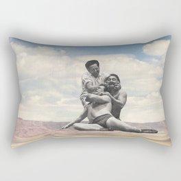 Pink Rocks Wrestling Rectangular Pillow