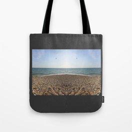 Mirrored beach photo Tote Bag