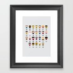 Pixel Star Trek Alphabet Framed Art Print