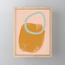 Hula hoop Framed Mini Art Print