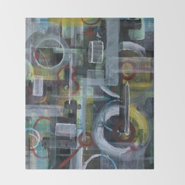 Abstract 1017 Throw Blanket