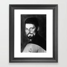 riker Framed Art Print