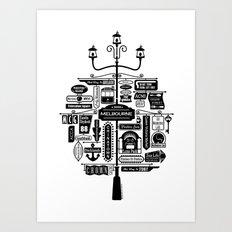 Best of Melbourne Art Print