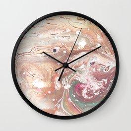 Galaxy Oil Marbling Texture  Wall Clock