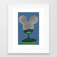 minnie Framed Art Prints featuring Minnie by WickedNifty