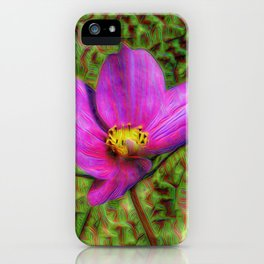 DeepDream Flowers, Wild Flower, DeepDream style iPhone Case