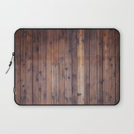 Dark Brown Wood Laptop Sleeve
