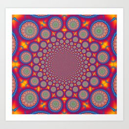 BBQSHOES: Wheels Of Time II Fractal Mandala Art Print