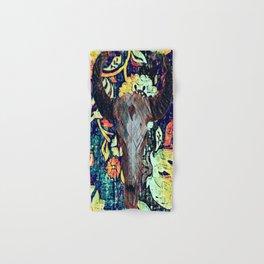 Cow Skull Floral Hand & Bath Towel