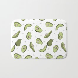 Avocado pattern by andrea lauren minimal cute fruit vegetable food print design Bath Mat