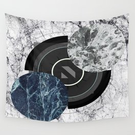 Compass To The Moon Wall Tapestry