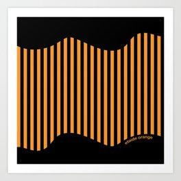 Etoide Jingga Orange Black Stripes Art Print