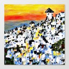 Abstract Santorini, Greece Landscape Canvas Print