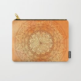 Watercolor Mandala Pattern Orange Carry-All Pouch