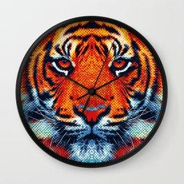 Tiger - Colorful Animals Wall Clock