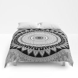 Black and White Mandala Two Comforters