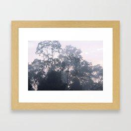The mysteries of the morning mist Framed Art Print