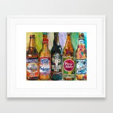 Alaskan - Budweiser - Arrogant - Pliny - Blue Moon Beer  Beer Art Painting Framed Art Print